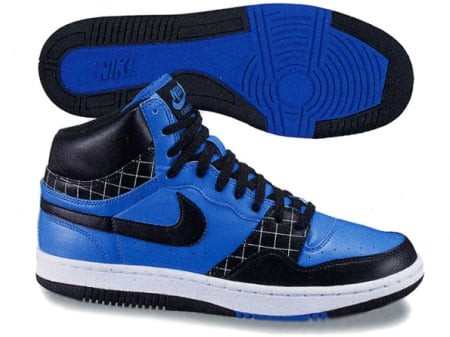 The first pair comes in high-top form, and it features a blue base with