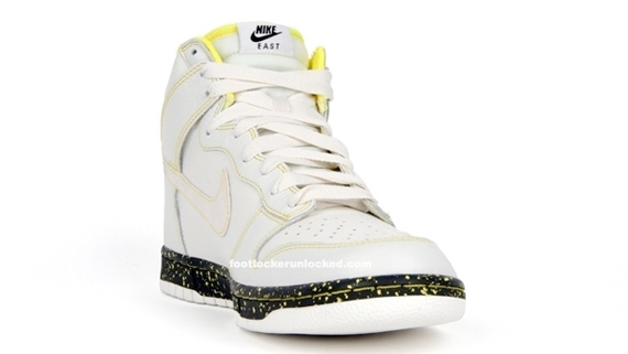 Nike Dunk High 08 ND - Swan / Anthracite / Volt Yellow