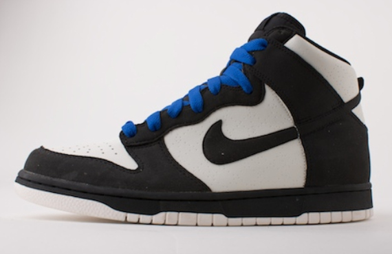 Nike Dunk High Premium - White / Black - Electric Blue