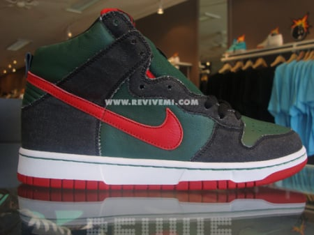 best authentic 24520 c2ff0 Nike Dunk High Pro SB Gucci Sample - Deep Forest / Paprika ...