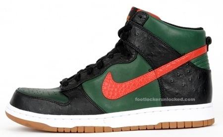 Nike Dunk High Supreme Spark - Green / Red/ Black
