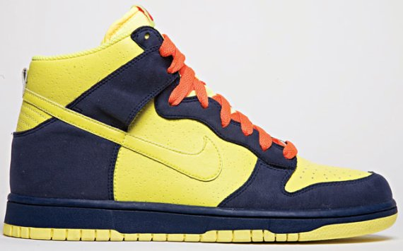 Nike Dunk High - Yellow   Navy - Orange  c5a81f825477