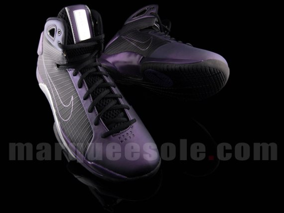 Nike Hyperdunk Eggplant - Metallic Purple / Black - White