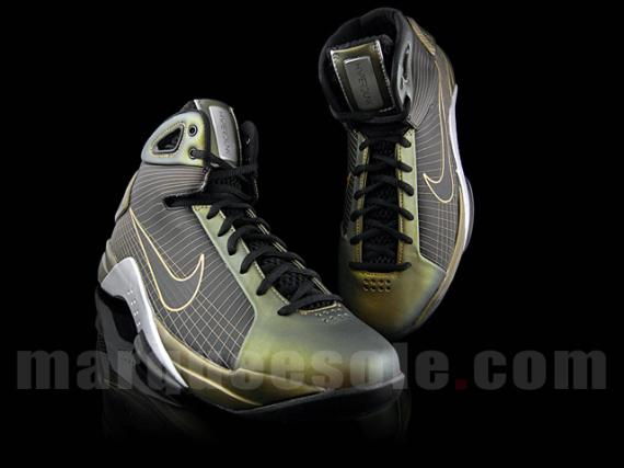 Nike Hyperdunk - Metallic Gold / Black- Silver