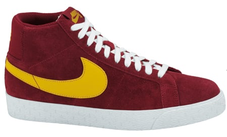 Nike SB Blazer High USC - Team Red / Yellow Ochre
