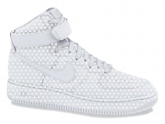Nike Womens Air Force 1 High '08 - White / Polka Dot