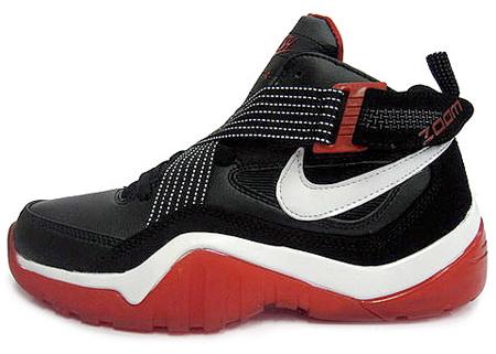 Nike Zoom Sharkalaid - Black / White - Varsity Red