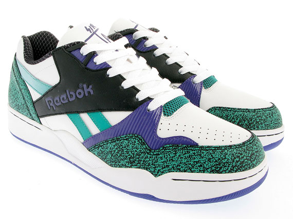 Reebok Sir Jam Low - White / Black / Purple / Teal