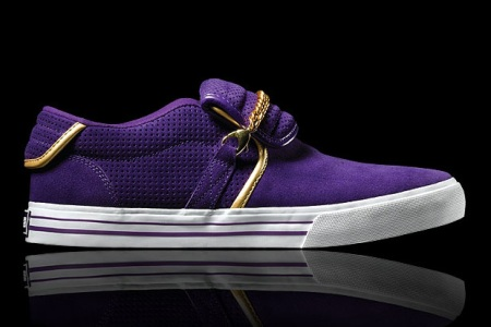 Supra Cuban Grey Wool & Purple Colorway