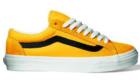 yellow old skool vans black