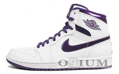 Air Jordan 1 White / Grand Purple (Metallic)
