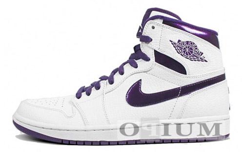 Air Jordan 1 White   Grand Purple (Metallic)  6c60474f8
