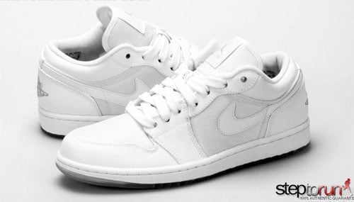Air Jordan 1 Low Phat - White Ostrich