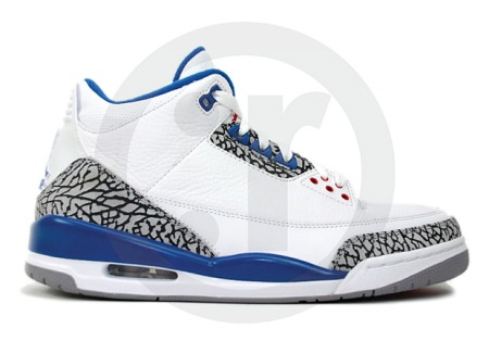 Air Jordan III (3) True Blue Available Online