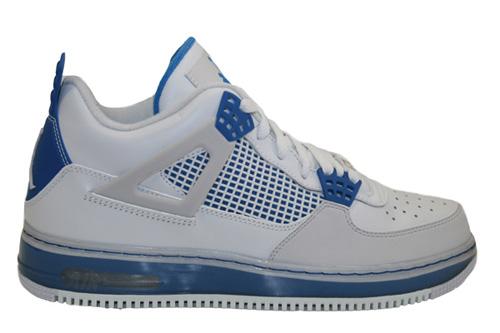 Air Jordan Force Fusion 4 White Cement, Military Blue