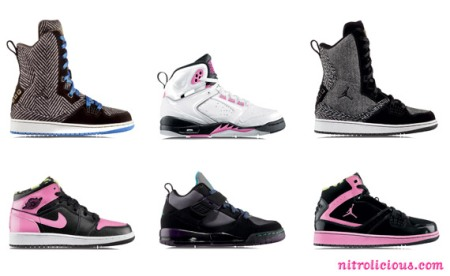 Specifically, a black/pink Air Jordan I (1) Phat Mid, black/pink and