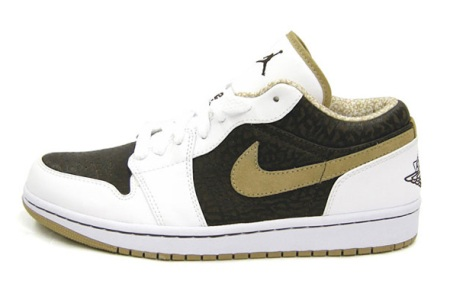 Air Jordan Retro 1 (1) Low Phat White/Hey/Madeira