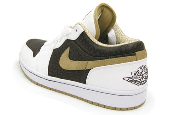 Air Jordan Retro 1 (1) Low Phat White/Hey/Madeira