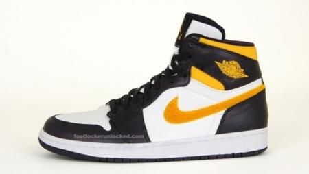 Air Jordan I (1) Black/White/Varsity Maize