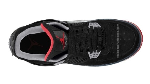 Air Jordan Force Fusion IV - Black / Varsity Red - Stealth