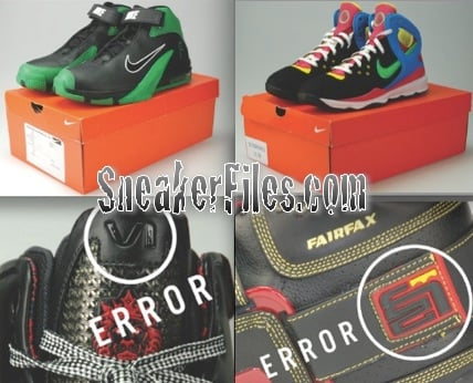 kanye west nike error shoes lebron error samples paul piece player exclusives