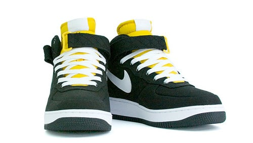 Nike Air Force 1 Mid Canvas Black / Yellow