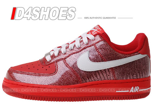 Nike Air Force 1 Womens Low Beet / Swan - Challenge Red