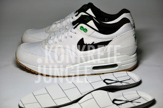 Patta x Nike Air Max 1 Sample - White / Black / Lucky Green