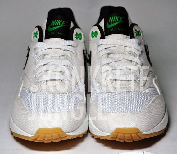 Patta x Nike Air Max 1 Sample White Black Lucky Green
