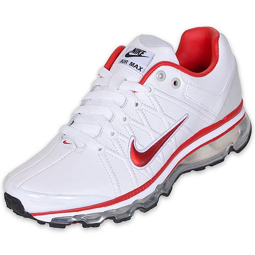 Nike Air Max 2009 Leather SI White / Sport Red - Black