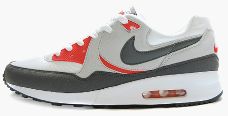 big sale 462b4 3d466 Nike Air Max Light - White   Dark Grey - Neutral Grey - Max Orange