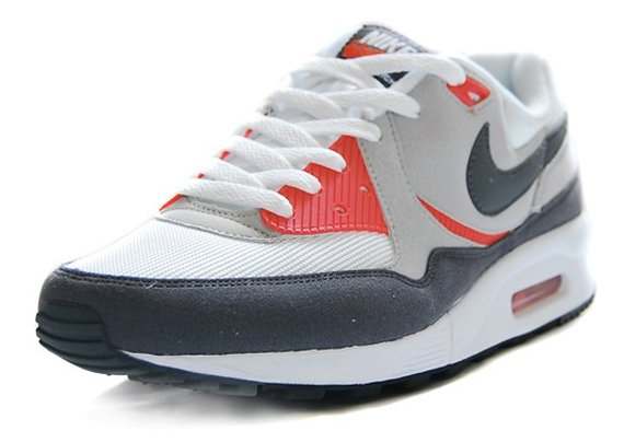Nike Air Max Light - White / Dark Grey - Neutral Grey - Max Orange