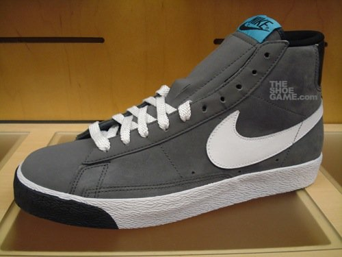 Nike Blazer High Dark Grey/Baltic Blue 2