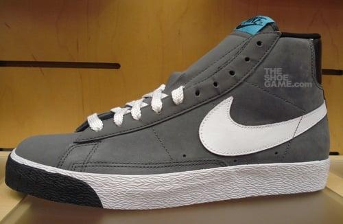 Nike Blazer High Dark Grey/Baltic Blue