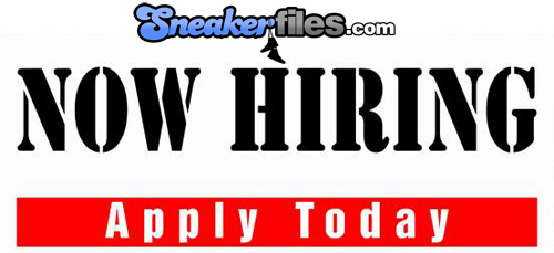 Sneaker Files is Now Hiring