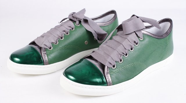 womens-green-lanvin-cap-toe