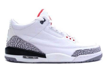 Air Jordan III (3) Retro - White - Cement Grey - Slam Dunk Pack 2010