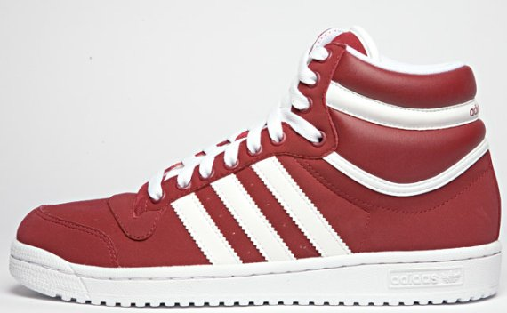 adidas Top Ten High - Burgundy / White