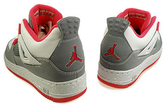 Air Jordan Fusion IV (4) GS - Cool Grey / Infrared - Neutral Grey