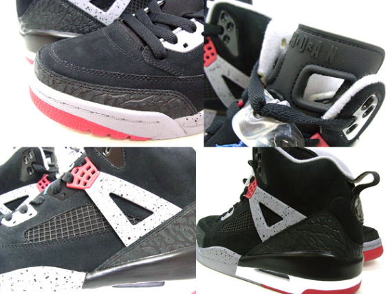 Air Jordan Spizike Sample - Black / Varsity Red – Cement