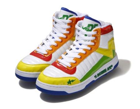 e289e90e8 Bape Bapesta 88 - Rainbow