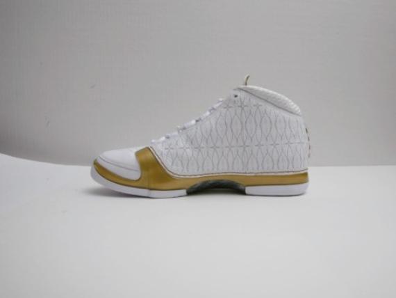 Air Jordan XX3 (23) White/Gold 1-of-1 Sample