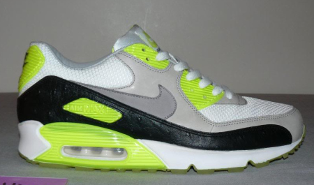 nike air max 90 lime green and black