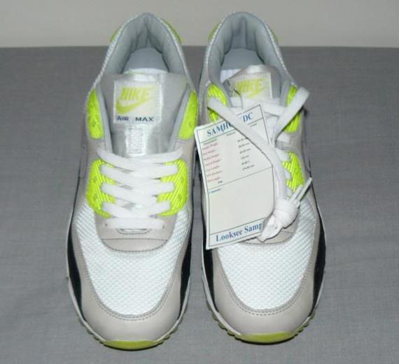 Nike Air Max 90 Sample - White / Black - Neon