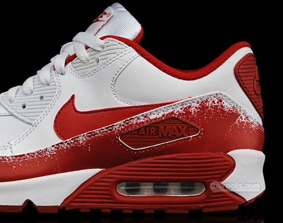 Nike Air Max 90 - White / Varsity Red