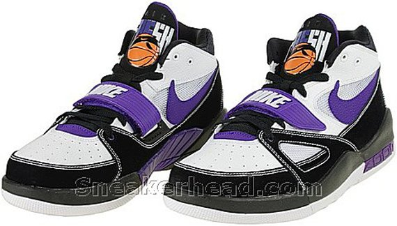 Nike Alpholution - White / Black - Varsity Purple - Orange Blaze