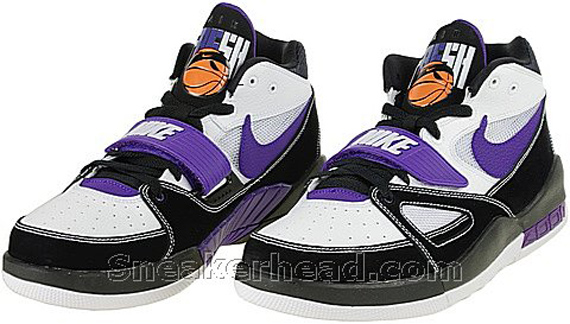 Nike Alpholution - White / Black - Varsity Purple - Orange Blaze