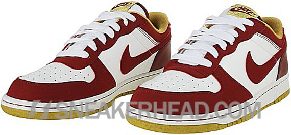 Nike Big Nike Low 1 LE - White / Team Red - Metallic Gold