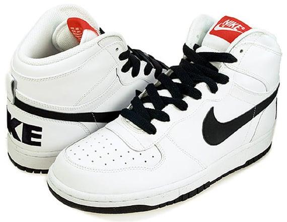 Nike Big Nike Hi LE Woven - White / Dark Obsidian - Team Orange