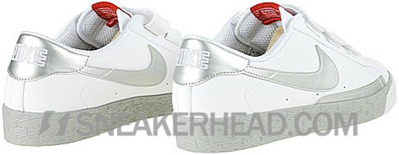 Nike Blazer Low AC - White / Metallic Silver - Spirit Red